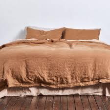 100 linen duvet cover in clay u2014 in bed store