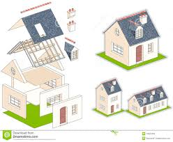 house kit isometric vector illustration of a house in kit stock vector
