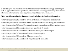 Sample Resume For Radiologic Technologist by Top 10 Interventional Radiology Technologist Interview Questions And U2026