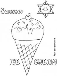 printable summer ice cream coloring pages for preschool
