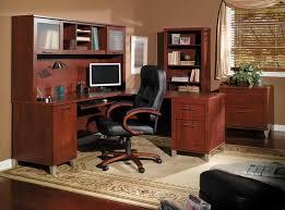 Ergonomic Home Office Furniture Furniture Amazing Walnut Home Office Furniture With Black Leather