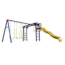 Playground Flooring Lowes by Shop Lifetime Products Monkey Bar Adventure Swing Set Metal