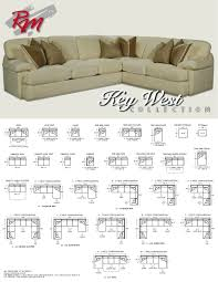 couch measurements michael key west dimensions sofa sectionals