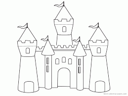 disney castle coloring pages printable 497190