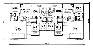 1 story multi family traditional house plan callahan