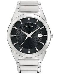 mens stainless steel bracelet watches images Bulova men 39 s stainless steel bracelet watch 38mm 96b149 watches tif