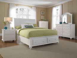 Queen White Bedroom Suite Queen Headboard And Storage Footboard Sleigh Bed By Broyhill
