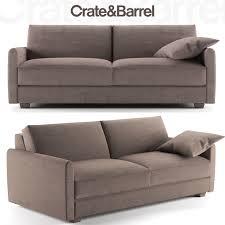sofa crate and barrel 3d model max fbx