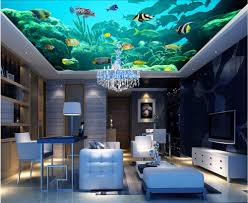 online get cheap free fish wallpapers aliexpress com alibaba group custom photo 3d ceiling murals wallpaper happy sea fish dolphins room decoration painting 3d wall murals