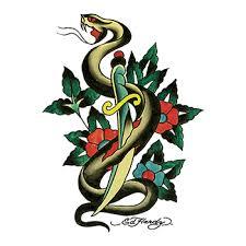 ed hardy snake and dagger temporary goimprints