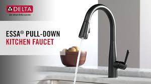 Perfect Kitchen Faucet With Pull by Delta Essa Single Handle Pull Down Sprayer Kitchen Faucet With