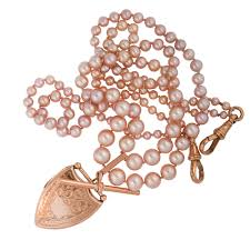 pink pearl gold necklace images Pink pearls and rose gold blush colors for spring 2013 sugar et jpg