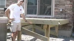 building free standing deck bracing posts youtube