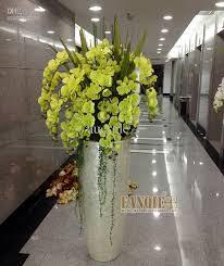 White Ceramic Floor Vase Large Floor Vase Set Modern Flower Receptacle Set Fashion Flower