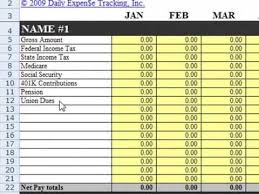 Income Tracker Spreadsheet Daily Expenses Excel Template