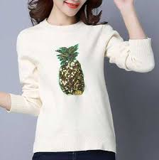sequins pineapple sweater for black xxxl sweater plus size