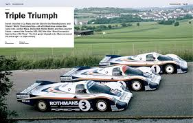 porsche rothmans porsche 956 triple win at 24 hours of le mans 1982