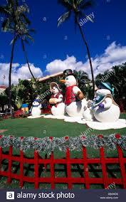 hawaii christmas snowman family figures and decorations honolulu