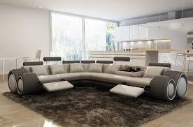 canapé d angle gris clair canapé d angle en cuir italien 7 places excelia gris clair et gris