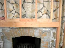 Diy Fireplace Cover Up How To Build A Standard Wall Over A Stone Wall How Tos Diy