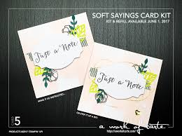 soft sayings card kit a work of carte