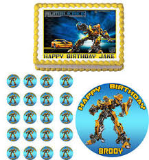 transformers cake toppers transformers bumblebee edible cake topper cupcake image decoration