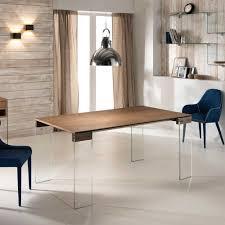 Esszimmertisch Dunkles Holz Ausziehbarer Esstisch Mit Glasbeinen Eiche Furniert Jetzt