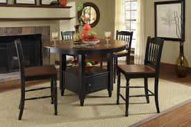 dining room table with lazy susan british isles round gathering height table w lazy susan in
