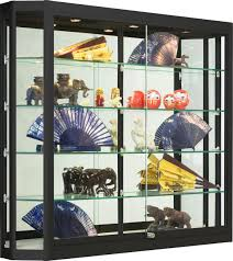 shadow box with shelves and glass door wall mount display cases professional hanging glass cabinets
