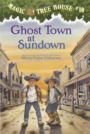 Magic Treehouse - ghost town at sundown u2014