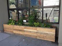 Large Planter Box by White Wooden Garden Trough Planter Veg Bed Flower Plant Pots In