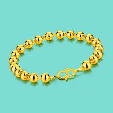 ladies gold bracelet design images Ethnic gold jewelery ladies simple 24k gold bracelet fashion bead jpg