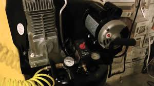 craftsman 27 gallon air compressor in action youtube
