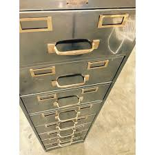 steelcase cabinets for sale vintage polished modern metal steelcase 8 drawer file cabinet chairish