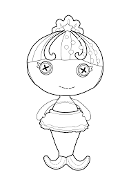 lalaloopsy doll coloring page for kids printable free little