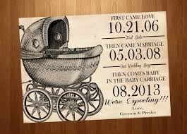 vintage baby carriage pregnancy announcement card by ssddesign