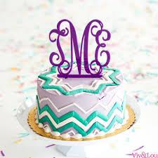 cake topper monogram monogram cake topper