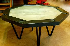 Handmade Dining Room Table Handmade Concrete Poker Table By Agitated Aggregate Custommade Com