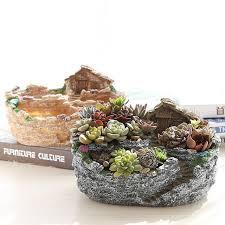 pots cuisine d oration resin flower pots planter garden herb cactus succulent plant pot box