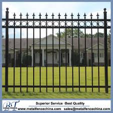 china steel black pointed top ornamental security steel fence