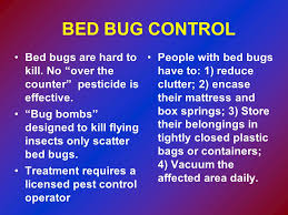 Bug Bombs For Bed Bugs Bed Bug Information For Police And Fire Departments Ppt