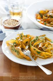 kitchen recipes sweet potato noodles with kale pesto gluten free grain free