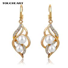 toucheart imitation fancy earrings fashion jewelry with stones big