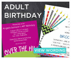 birthday invitation words birthday invitation wording exles invitation box
