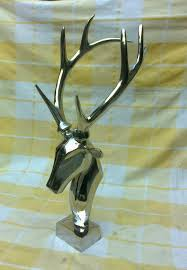 large metal wall mounted stag head table top deer home decor edh