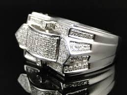 mens diamond engagement rings mens white gold finish diamond engagement designer fashion band