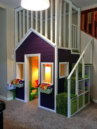 Cube Storage Bench Indoor Playhouse With Upstairs Loft And Cube Storage Stairs