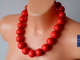 large red beaded necklace images Red beaded necklace large red bead necklace wooden beads jpg