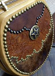 fancy tooled leather western decor hair on cowhide toilet seat