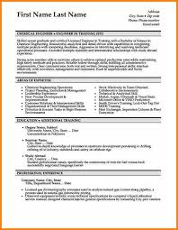 Chemical Engineering Internship Resume Samples Chemical Engineer Resume Template
